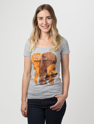 World of Eric Carle Brown Bear, Brown Bear Women's Scoop T-Shirt