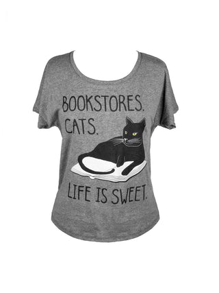 Bookstore Cats Women's Relaxed Fit T-Shirt