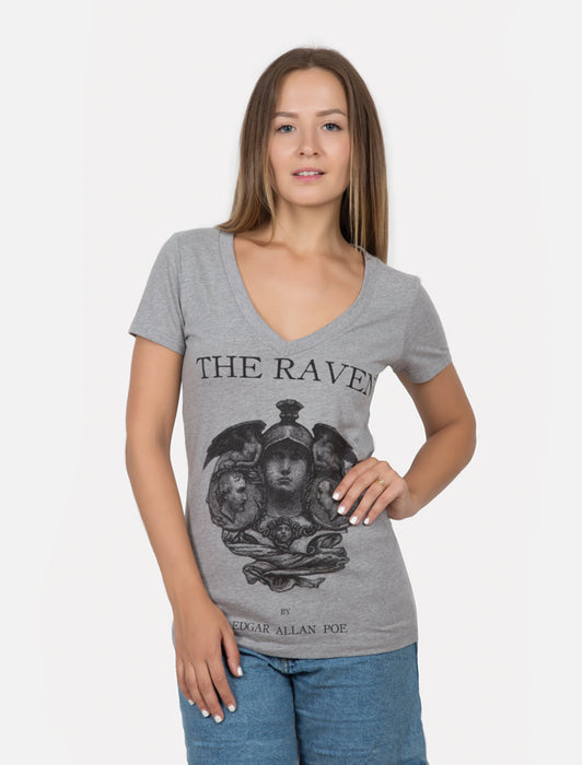 The Raven Women's V-Neck T-Shirt