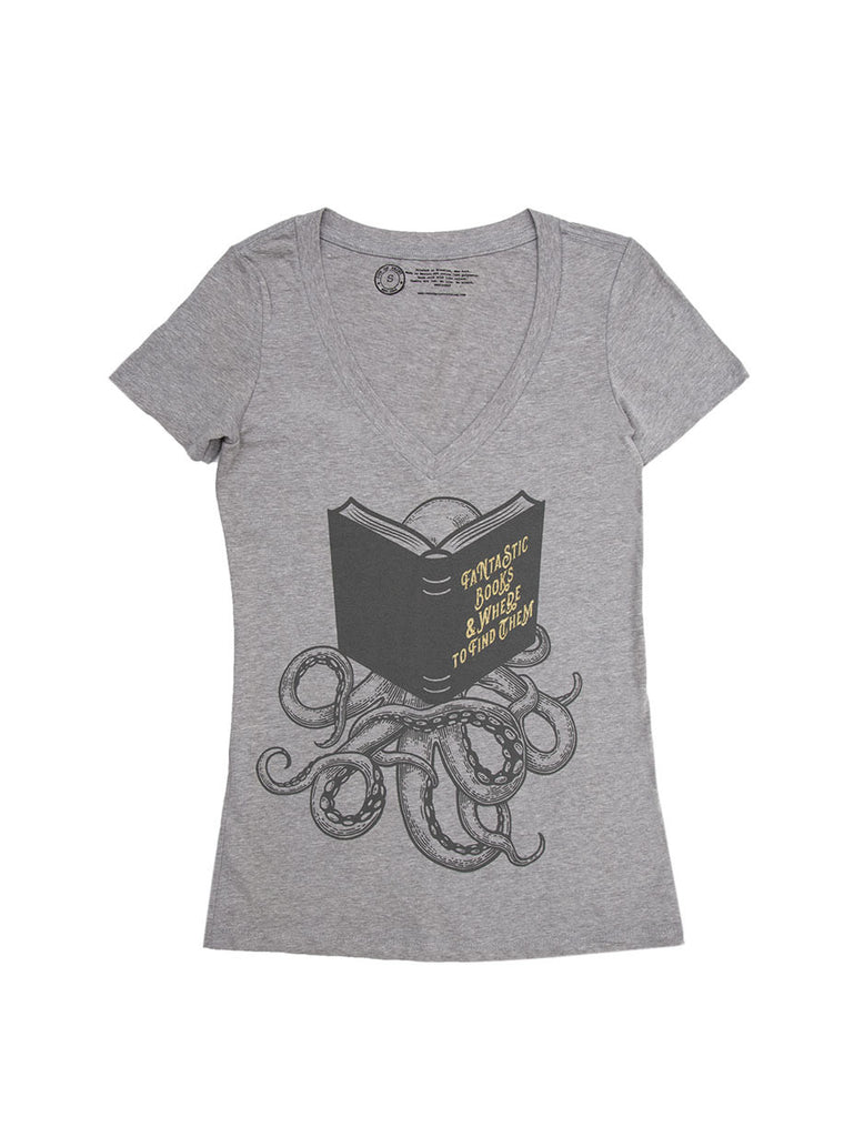 Fantastic Books  Where To Find Them Womens Book T-Shirt  Out Of Print-1897