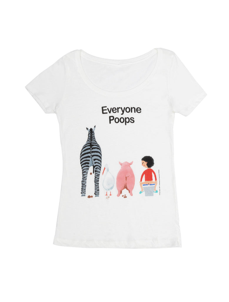 Vintage Book Cover Shirts : Everyone poops women s book t shirt out of print
