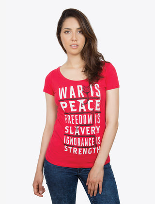 War is Peace (1984) Women's Scoop T-Shirt