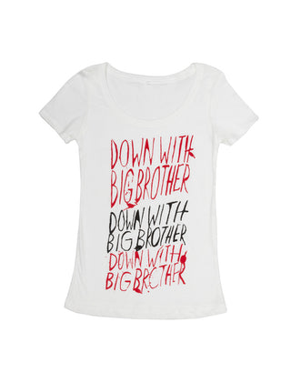 Down with Big Brother Women's Scoop T-Shirt