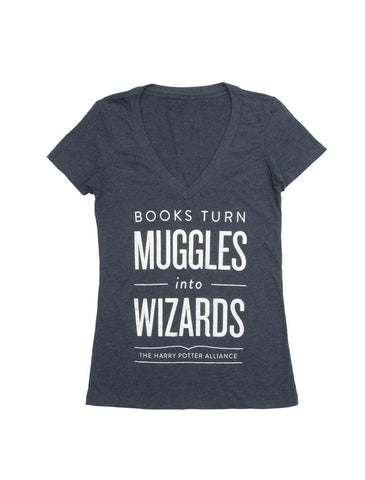 Books Turn Muggles into Wizards Women's T-Shirt