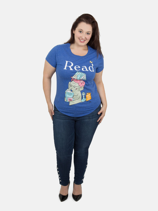 ELEPHANT & PIGGIE Read Women's Plus Size T-Shirt