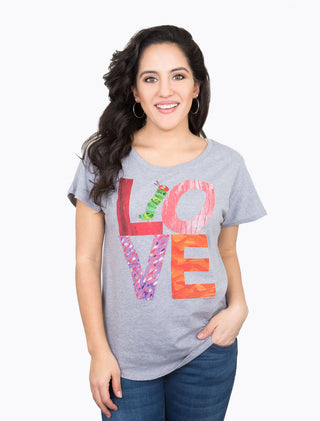 World of Eric Carle Love from The Very Hungry Caterpillar Women's Relaxed Fit T-Shirt
