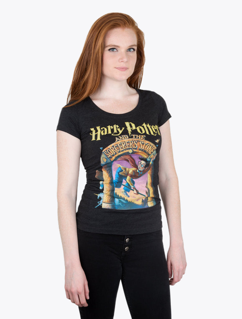 Harry Potter Book Cover Shirt : Harry potter and the sorcerer s stone women t shirt