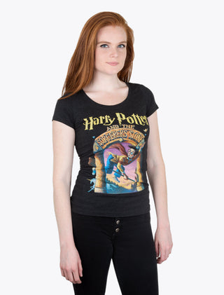 288be69410e5 ... T-Shirt Harry Potter and the Sorcerer s Stone Women s Scoop ...
