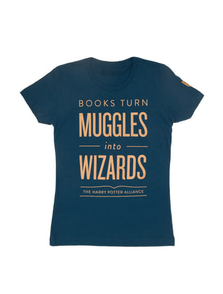 Books Turn Muggles into Wizards (Ravenclaw) Women's T-Shirt