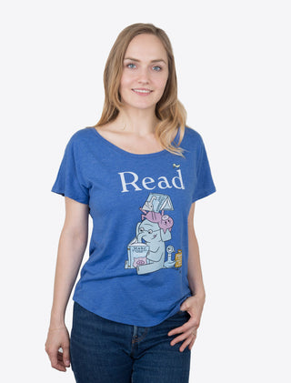 ELEPHANT & PIGGIE Read Women's Relaxed Fit T-Shirt