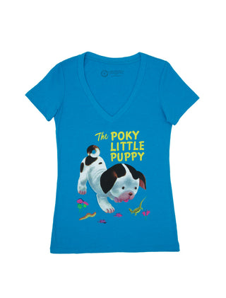 The Poky Little Puppy Women's V-Neck T-Shirt