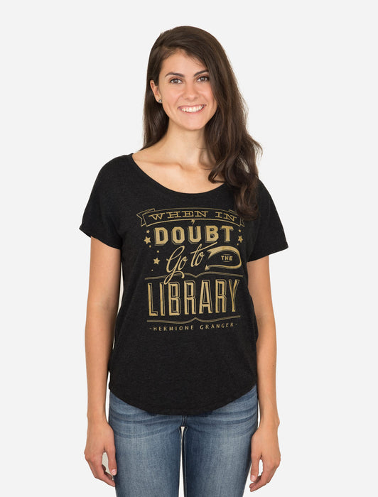 When in Doubt, Go to the Library Women's Relaxed Fit T-Shirt