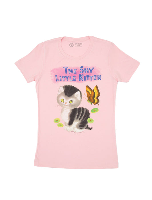 The Shy Little Kitten Women's Crew T-Shirt