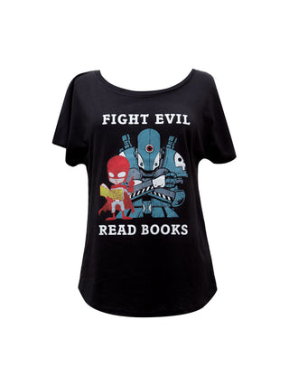 Fight Evil, Read Books Women's Relaxed Fit T-Shirt (2018)
