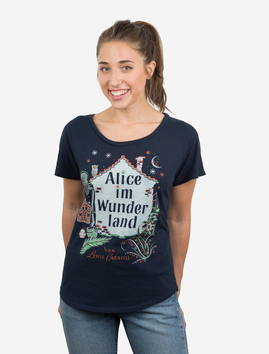 Alice in Wonderland (German Edition) Women's Relaxed Fit T-Shirt