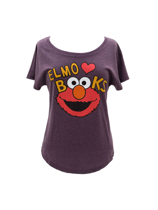 Elmo Loves Books Women's Relaxed Fit T-Shirt