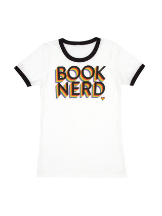 Book Nerd Pride Women's Ringer T-Shirt