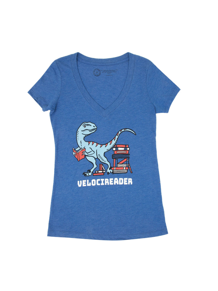 Velocireader Women's V-Neck T-Shirt