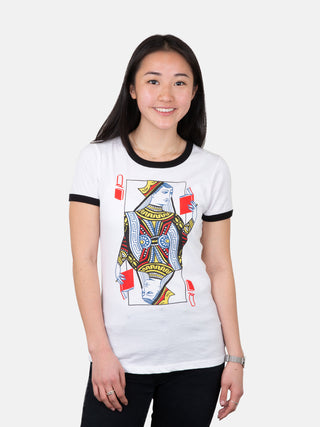 Queen of Books Women's Ringer T-Shirt