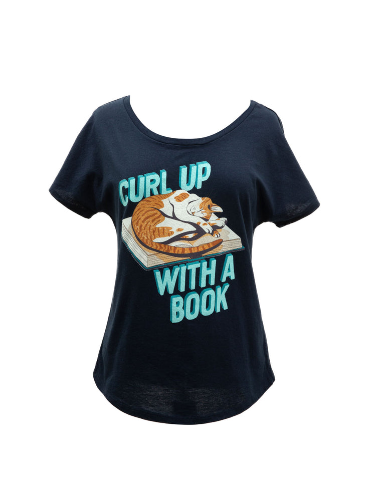 Curl Up with a Book Women's Relaxed Fit T-Shirt