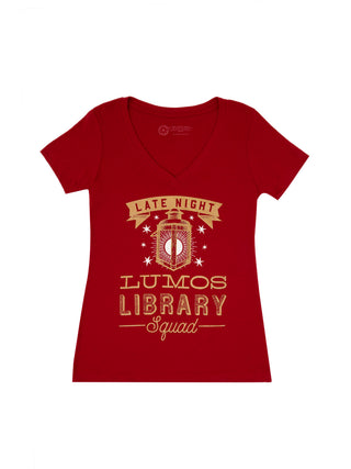 Lumos Library Squad (Glow in the Dark - Red) Women's T-Shirt