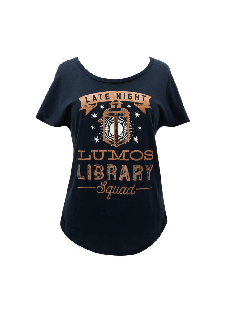 Lumos Library Squad (Glow in the Dark - Blue) Women's T-Shirt
