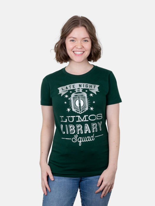 Lumos Library Squad (Glow in the Dark - Green) Women's T-Shirt