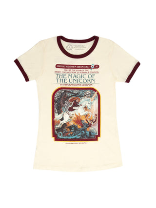 Choose Your Own Adventure: The Magic of the Unicorn Women's Ringer T-Shirt