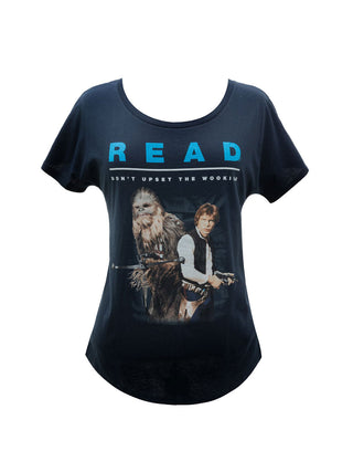 Han Solo and Chewbacca Star Wars READ Women's Relaxed Fit T-Shirt