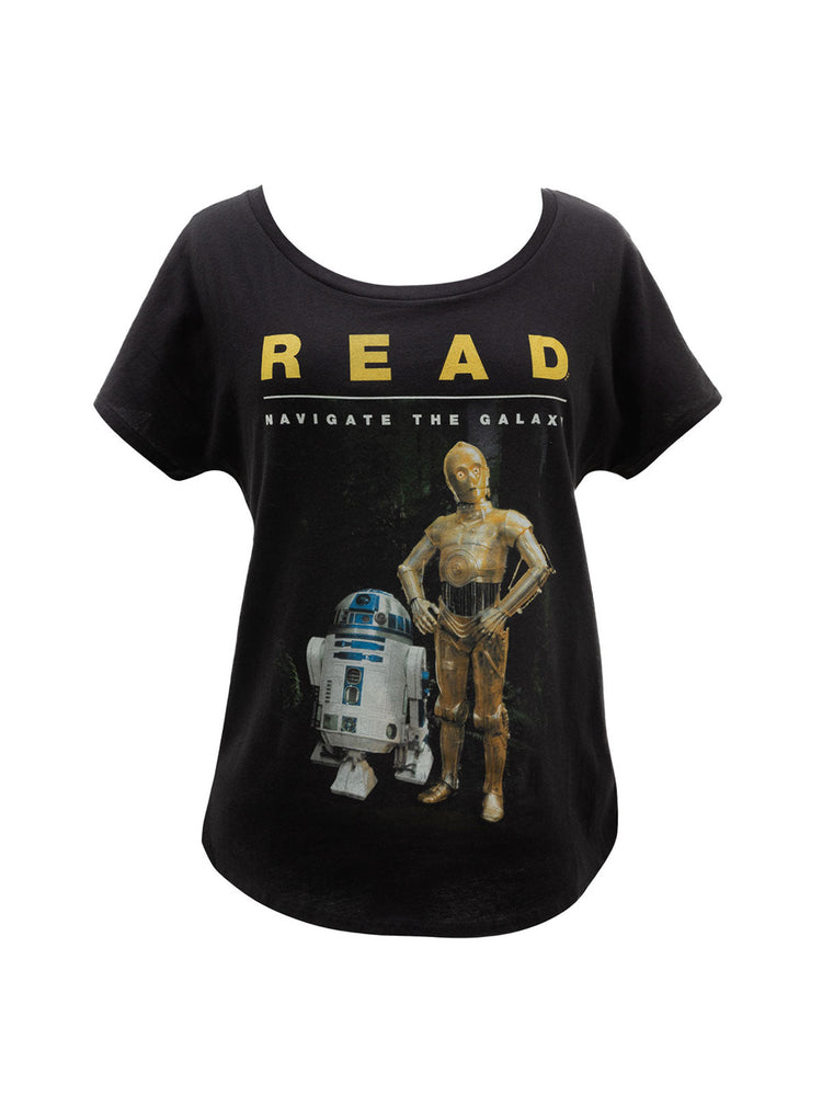 R2-D2 and C-3PO Star Wars READ Women's Relaxed Fit T-Shirt