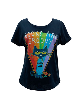 Pete the Cat - Books are Groovy Women's Relaxed Fit T-Shirt