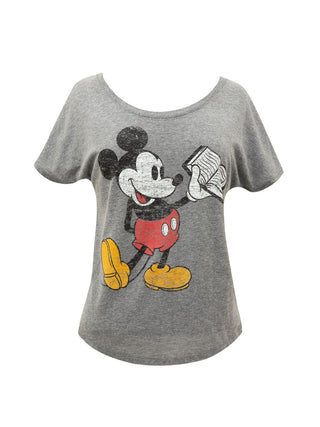 Disney Mickey Mouse Reading Women's Relaxed Fit T-Shirt