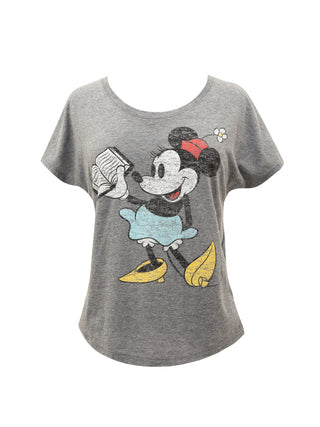 Disney Minnie Mouse Reading Women's Relaxed Fit T-Shirt