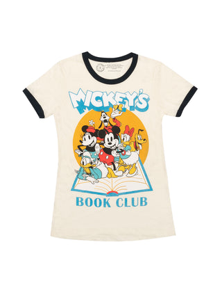 Disney Mickey Mouse Book Club Women's Ringer T-Shirt
