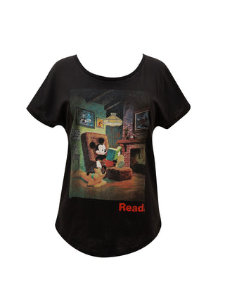 Disney Mickey Mouse READ Women's Relaxed Fit T-Shirt