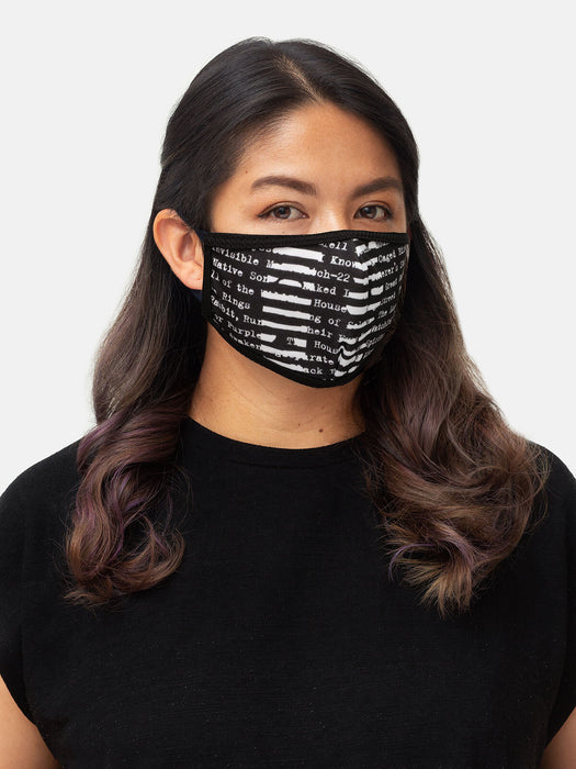 Banned Books adult face mask