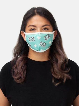 Book Nerd adult face mask
