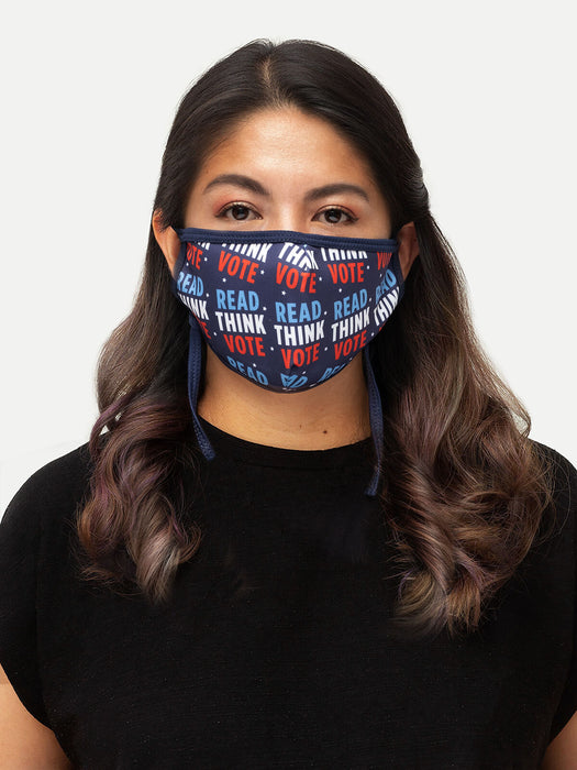 Read Think Vote adult face mask (adjustable)