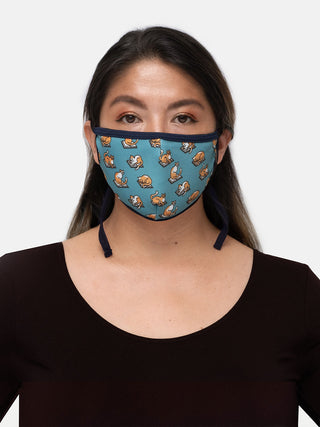 Curl Up with a Book adult face mask (adjustable)