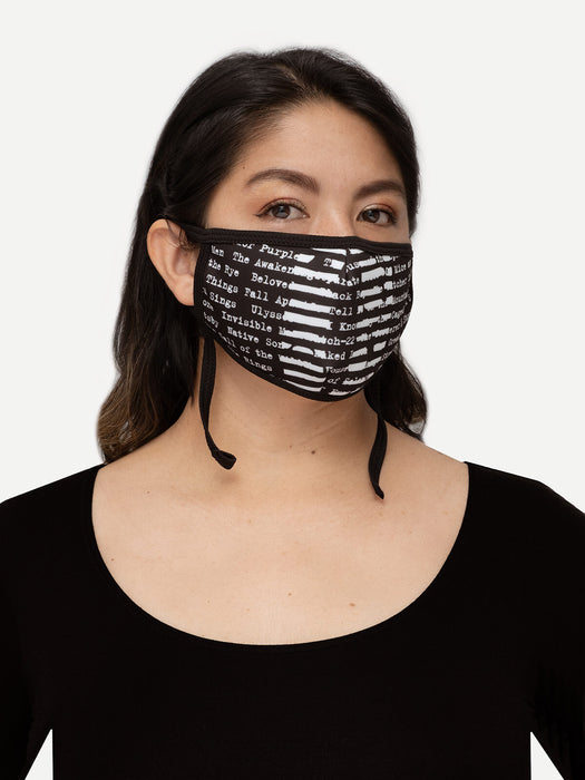 Banned Books adult face mask (adjustable)