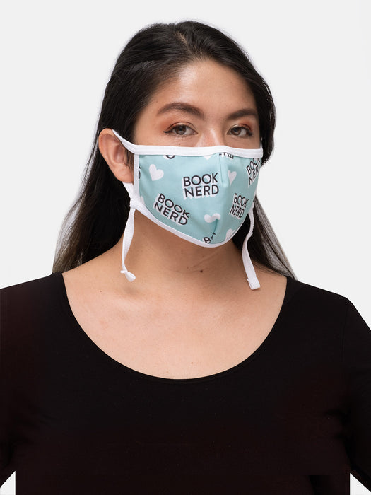 Book Nerd adult face mask (adjustable)