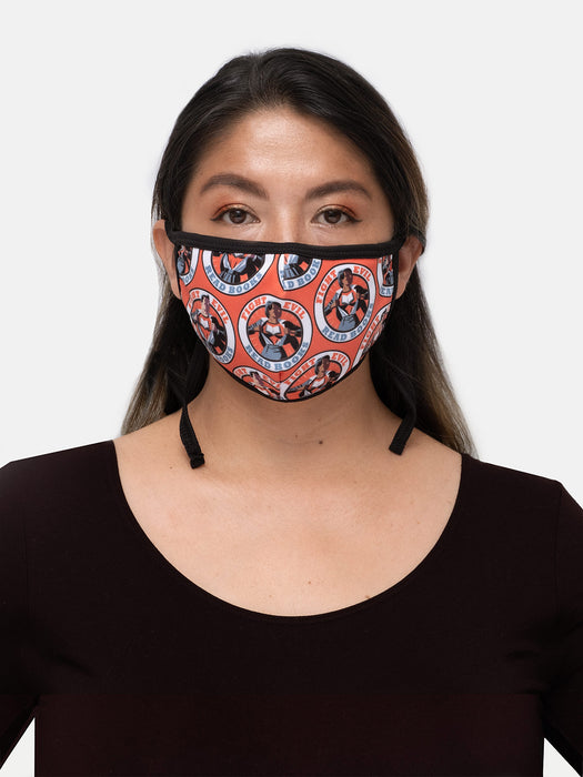 Fight Evil, Read Books adult face mask (adjustable)