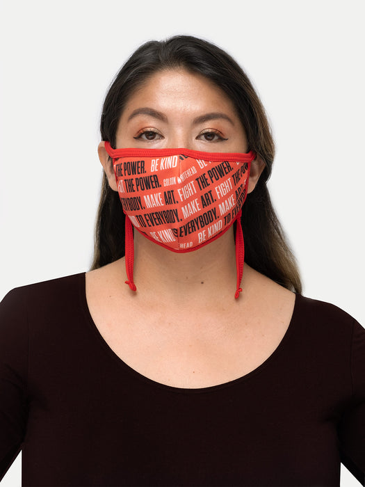 Colson Whitehead - Fight the Power adult face mask (adjustable)