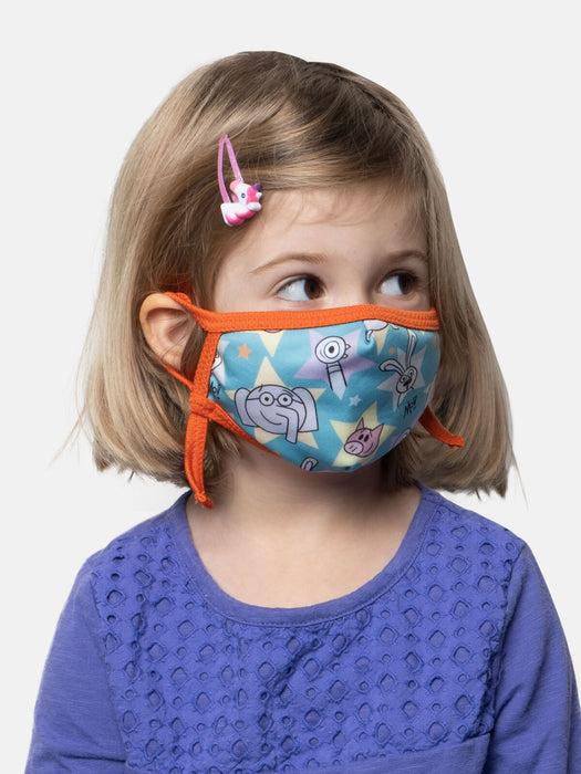 Mo Willems kids' face mask (adjustable)