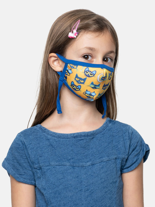 Pete the Cat kids' face mask (adjustable)