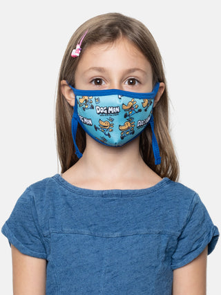 Dog Man kids' face mask (adjustable)