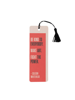 Colson Whitehead - Fight the Power bookmark