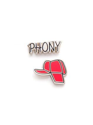 Holden's Hat and Phony enamel pin set