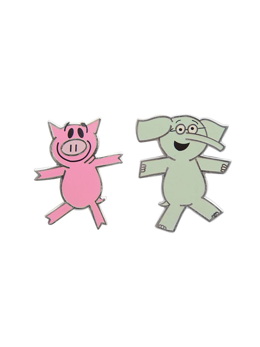 ELEPHANT & PIGGIE enamel pin set
