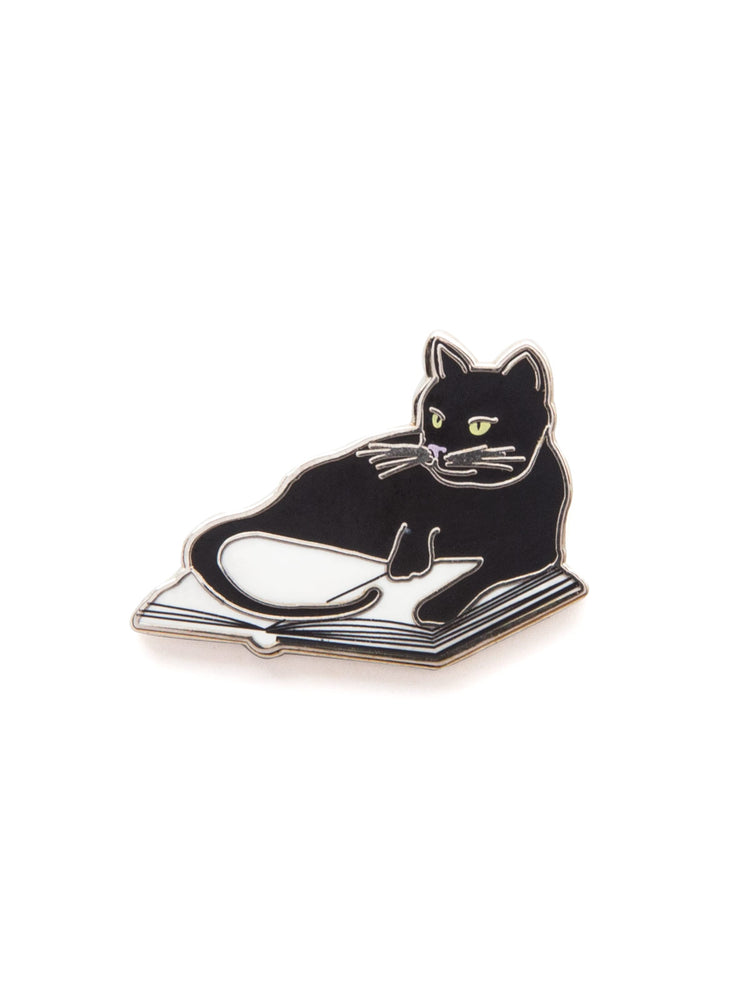 Bookstore Cats enamel pin